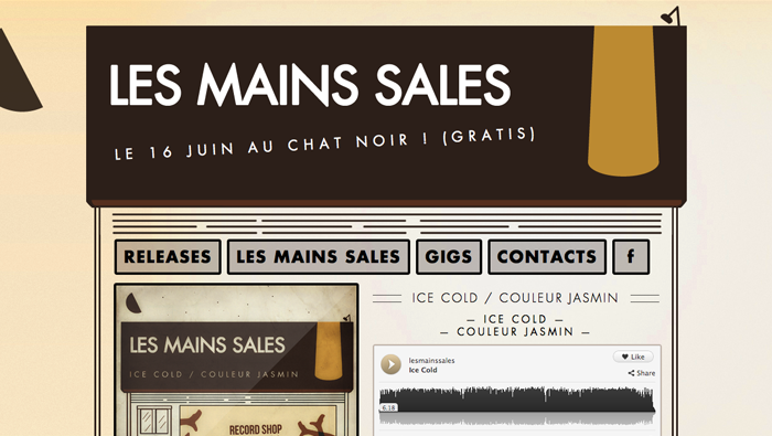 "Site internet de "" Les Mains Sales"""